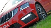 Skoda Octavia RS review test drive LED fog lamp
