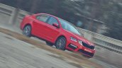Skoda Octavia RS review test drive action shot