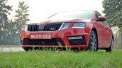 Skoda Octavia RS review test drive front angle low