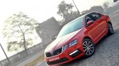Skoda Octavia RS review test drive front angle view (2)