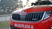 Skoda Octavia RS review test drive grille close