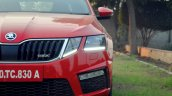 Skoda Octavia RS review test drive headlamp
