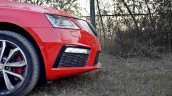 Skoda Octavia RS review test drive nose side view