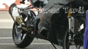 TVS Apache RR 310 spied in racetrack front right quarter