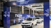 Tata Tigor EV first batch rolled out from Sanand