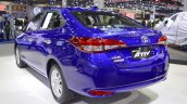 Toyota Yaris Ativ S rear three quarters left side at 2017 Thai Motor Expo