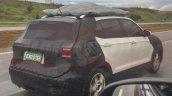 VW T-Cross rear three quarters right side spy shot