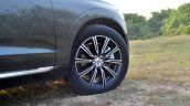 Volvo XC60 test drive review front angle alloy wheel