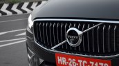 Volvo XC60 test drive review front angle grille