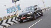 Volvo XC60 test drive review front angle motion shot
