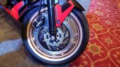 2018 Bajaj Dominar 400 unveiled red front wheel