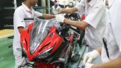 2018 Honda CBR150R Red press factory front