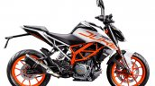 2018 KTM 390 Duke White press right side