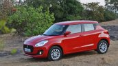 2018 Maruti Swift test drive review front side angle