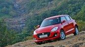 2018 Maruti Swift test drive review front three quarters tilt
