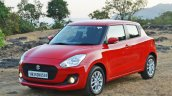 2018 Maruti Swift test drive review front three quarters