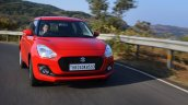 2018 Maruti Swift test drive review front tracking shot