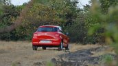 2018 Maruti Swift test drive review rear three quarters far