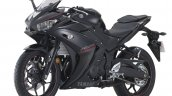 2018 Yamaha YZF-R25 Black press front left quarter