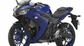 2018 Yamaha YZF-R25 Blue press front left quarter