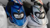 Aprilia SR 125 Blue Silver spied by IAB reader