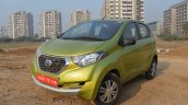Datsun redi-GO 1.0 MT Lime front three quarters left side