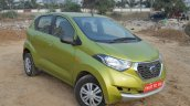 Datsun redi-GO 1.0 MT Lime front three quarters right side