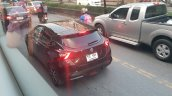 Fifth-gen Nissan Micra rear three quarters left side Thailand spy shot