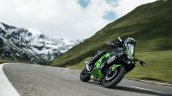 Kawasaki Ninja H2 SX SE press front right quarter action