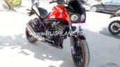 Mahindra Mojo low cost variant at dealership right side