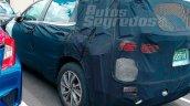 Next-gen 2018 Hyundai Santa Fe rear three quarters spy shot