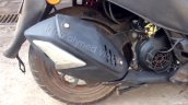 TVS Graphite spied near dealership exhaust