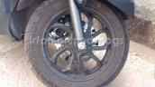 TVS Graphite spied near dealership front wheel