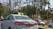 Toyota Yaris Ativ (Toyota Vios) rear three quarters spy shot India
