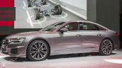 2018 Audi A6 front three quarters left side at 2018 Geneva Motor Show