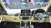 2018 BMW X3 dashboard at Auto Expo 2018