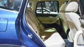 2018 BMW X3 rear seat at Auto Expo 2018