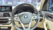 2018 BMW X3 steering wheel at Auto Expo 2018