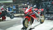 2018 Honda CBR1000RR Fireblade SP front left quarter at 2018 Auto Expo