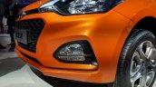 2018 Hyundai i20 (facelift) Passion Orange with Black front bumper at Auto Expo 2018