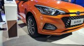 2018 Hyundai i20 (facelift) Passion Orange with Black front fascia at Auto Expo 2018