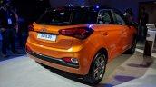 2018 Hyundai i20 (facelift) Passion Orange with Black rear three quarters at Auto Expo 2018