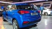 2018 Hyundai i20 (facelift) rear three quarters at Auto Expo 2018