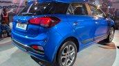 2018 Hyundai i20 (facelift) rear three quarters right side at Auto Expo 2018