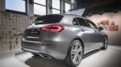 2018 Mercedes A-Class (W177) rear three quarters world premiere