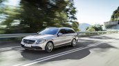 2018 Mercedes C-Class Estate (facelift) front three quarters left side dynamic