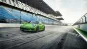 2018 Porsche 911 GT3 RS (facelift) front three quarters dynamic