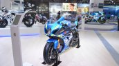 2018 Suzuki GSX-R1000R Blue front left quarter at 2018 Auto Expo