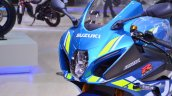 2018 Suzuki GSX-R1000R Blue headlight at 2018 Auto Expo