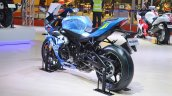 2018 Suzuki GSX-R1000R Blue rear left quarter at 2018 Auto Expo